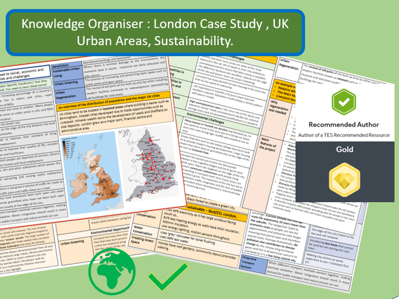 Knowledge Organiser AQA 9-1: London Case Study, UK City and Sustainability.
