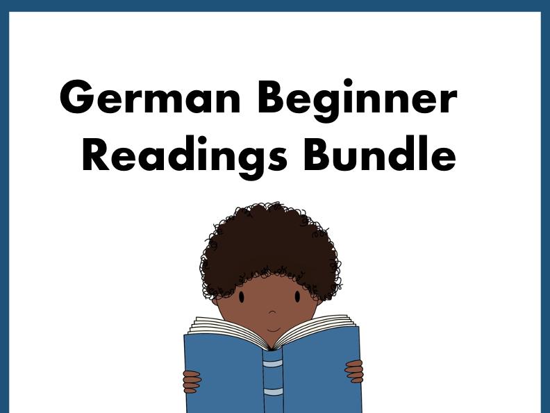 German Beginner Reading Bundle ~ TOP 10 Lesungen @50% off!