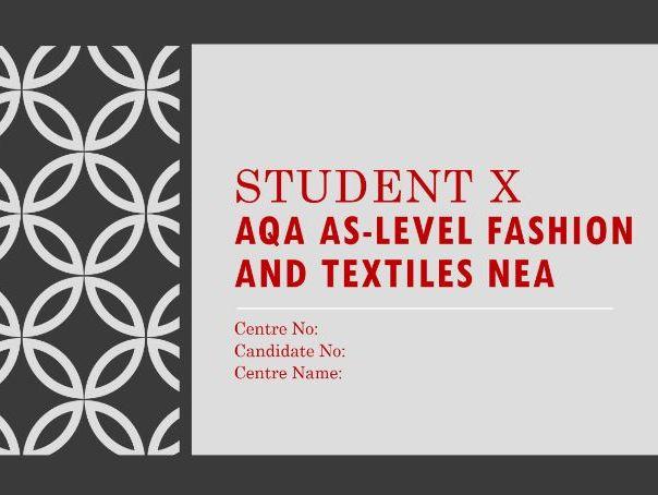 A-Level Fashion & Textiles Coursework Example