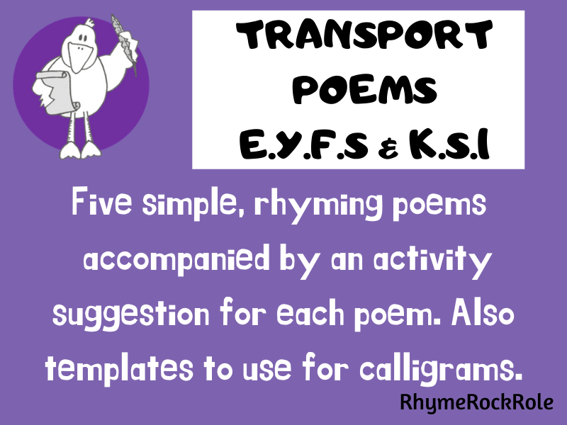 TRANSPORT POEMS (5 poems) - EYFS/KS1