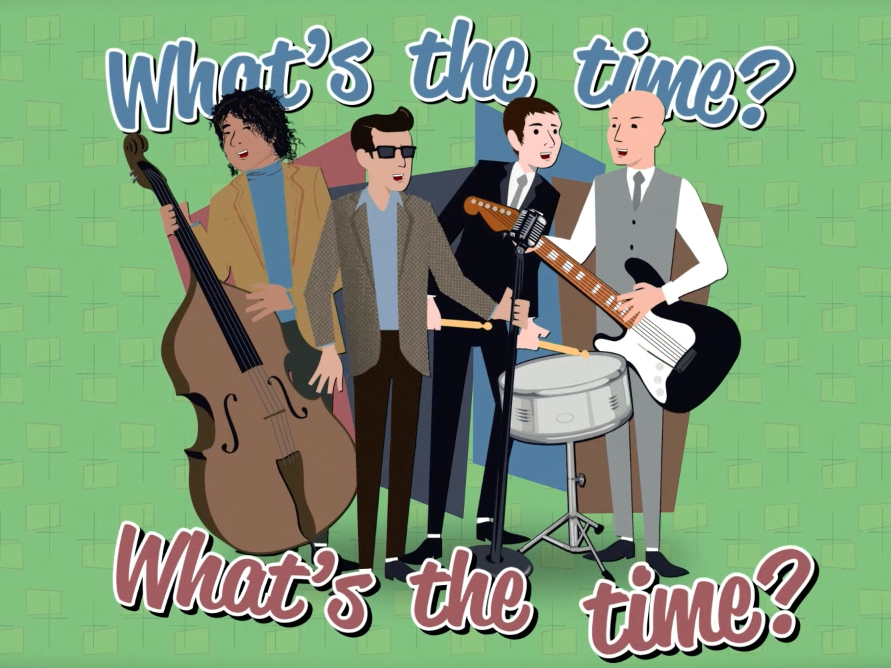 'What's the time?' Song and animated video to help children tell the time