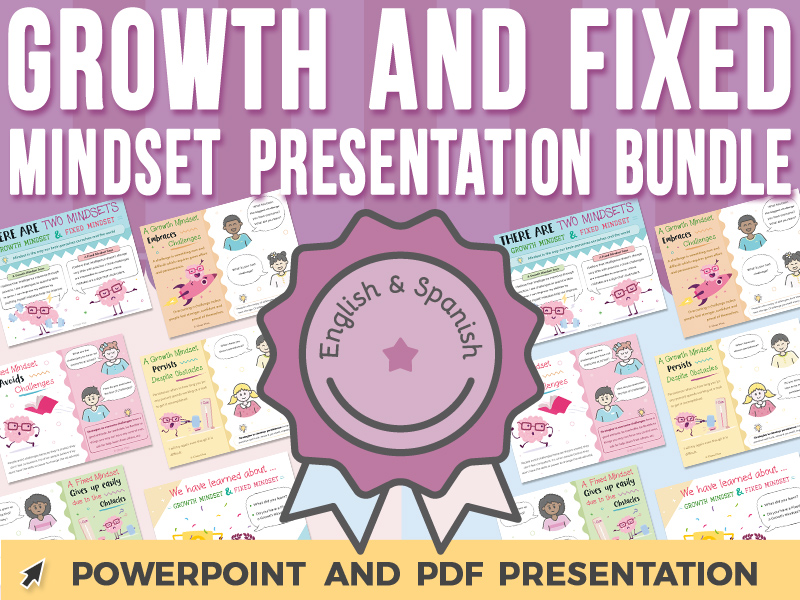 Growth Mindset and Fixed Mindset - PowerPoint Presentation BUNDLE