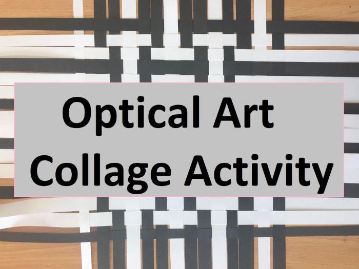Optical Art Collage Activity - Op Art