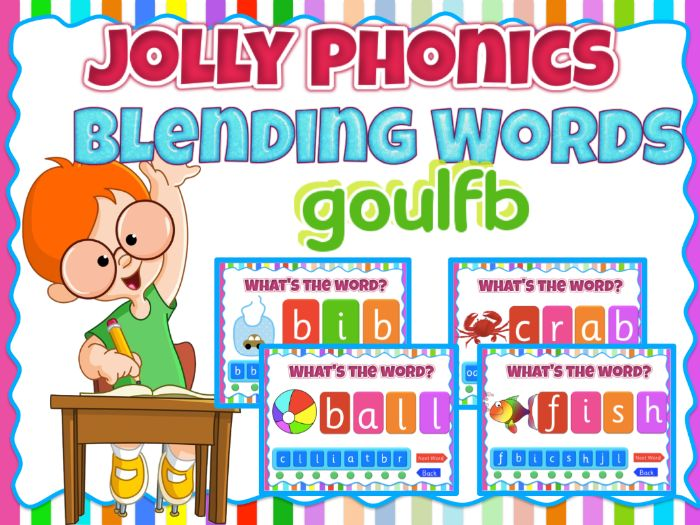 Phonics Blending  activity game- goulfb Animated PPT with sound effects - Smartboard