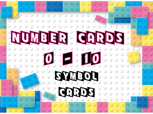 Lego Number and Symbol Cards