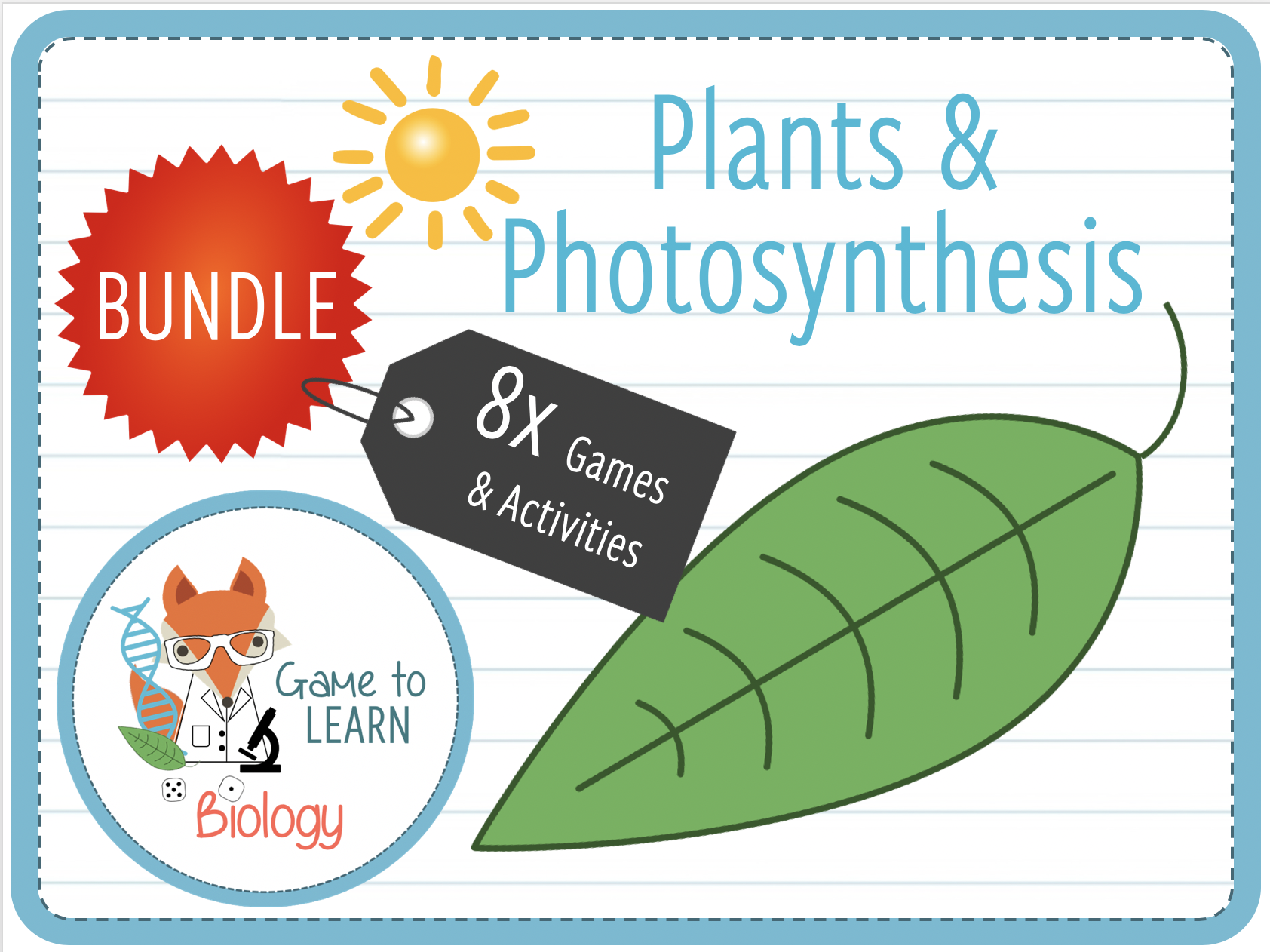 Plants & Photosynthesis - 8x Games and Activities (KS3/4)