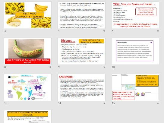 AQA Globalisation - L11 Food Commodity - Bananas (Lesson and Resources).