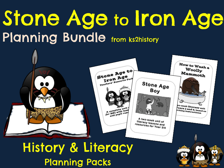 Stone Age to Iron Age Planning Bundle (History & Literacy)