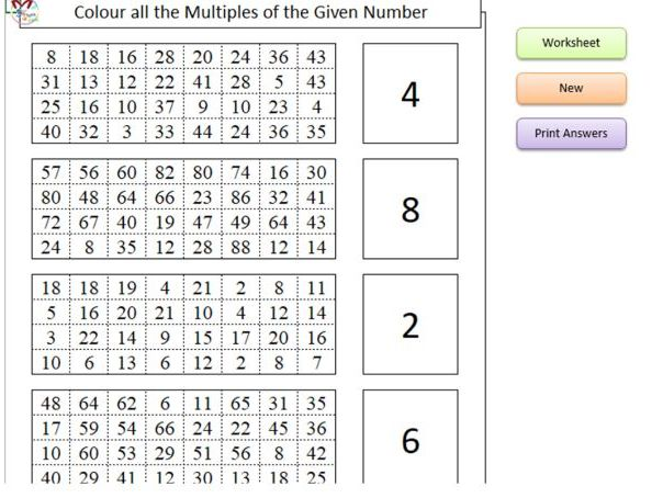 Colour the Multiples (Software)
