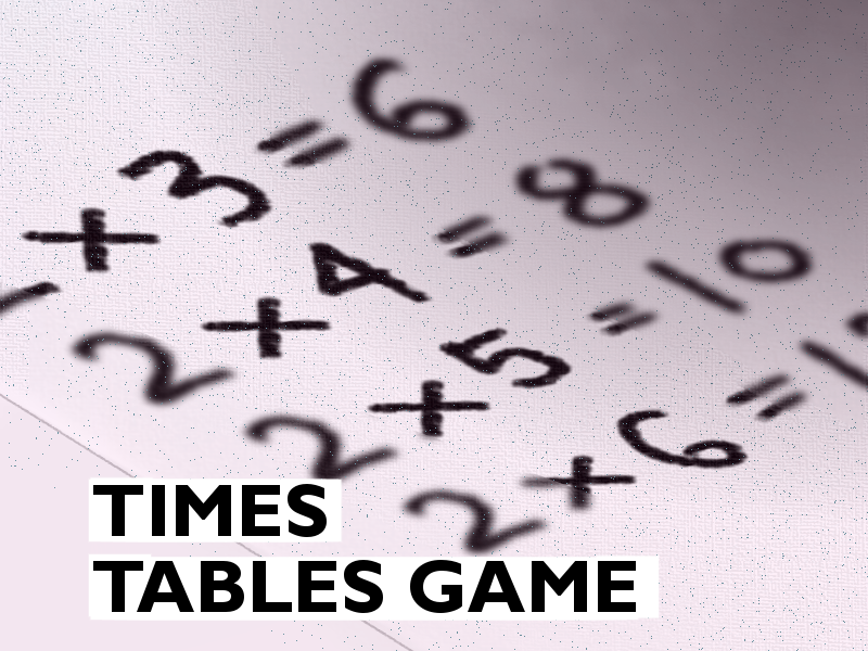 Fun Times Tables Game & Template with Interactive Feedback