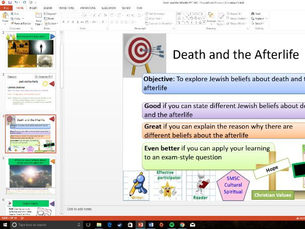 Eduqas: GCSE Study of Judaism: Death and the Afterlife: Whole Lesson