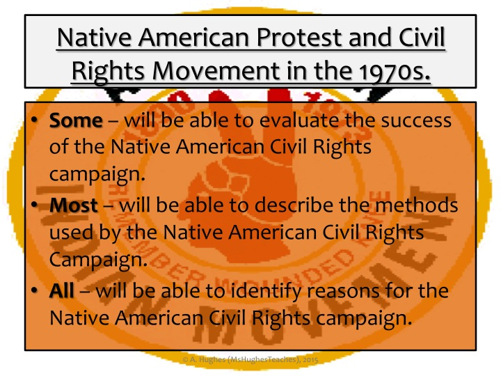 The Native American Civil Rights Movement GCSE