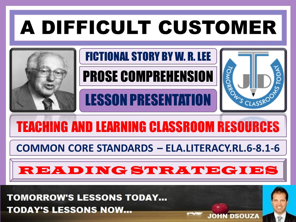 A DIFFICULT CUSTOMER - STORY COMPREHENSION - LESSON PRESENTATION