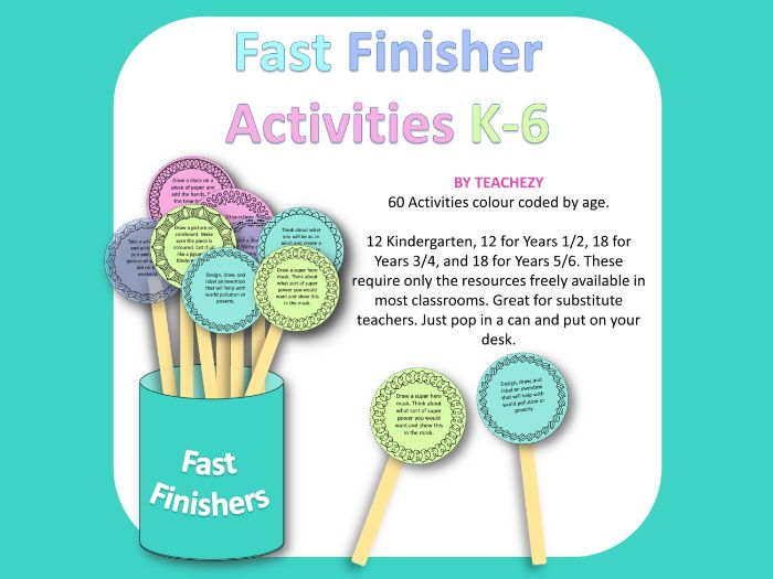 Fast Finisher Activities K to 6