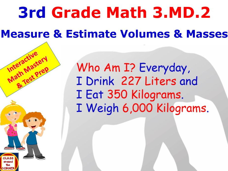 Grade 3 Math Interactive – Measure and Estimate Volumes and Masses 3.MD.2