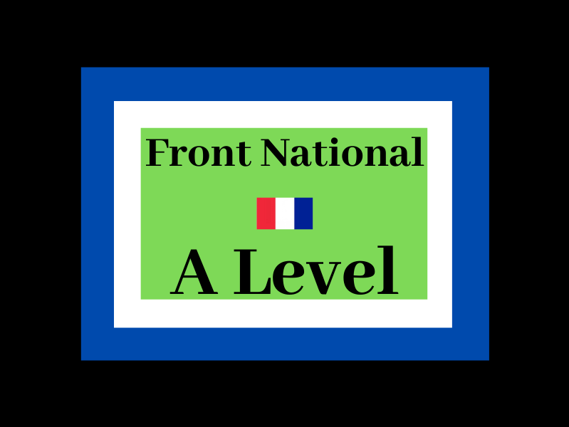 Front National French A Level