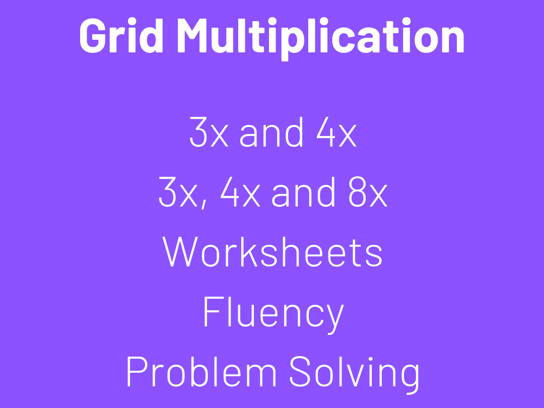 Grid Multiplication Questions & Worksheets