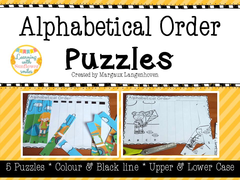 Alphabetical Order Puzzles