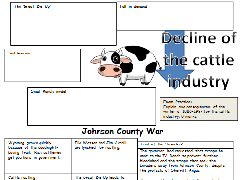 Cattle Industry (Rise and Decline): REVISION American West