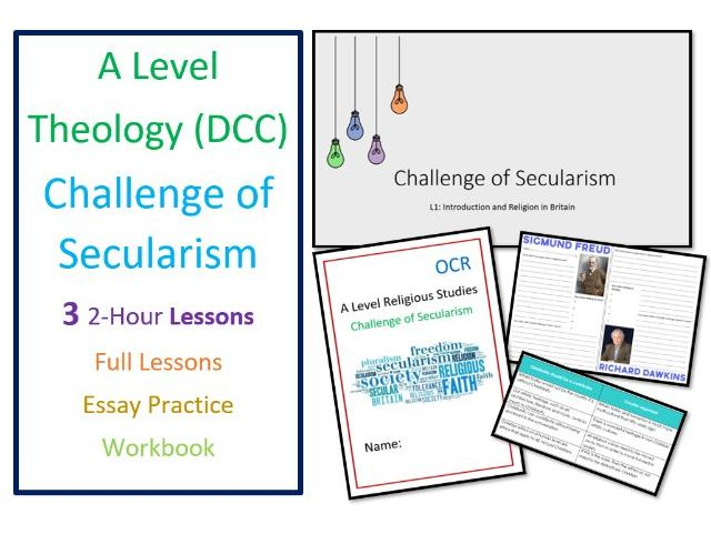 A Level Religious Studies: Challenge of Secularism Unit and Revision