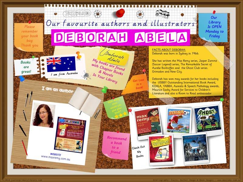 Library Poster - Deborah Abela Australian Author Of Max Remy Books