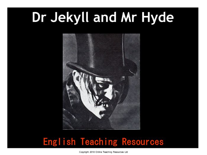 Dr Jekyll and Mr Hyde (includes a 118 slide PowerPoint, 33 worksheets and unit of work)