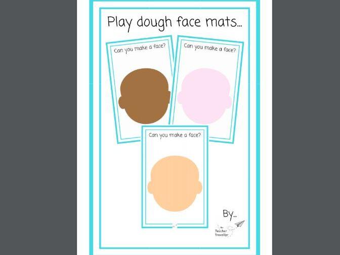 Playdough Face Mats
