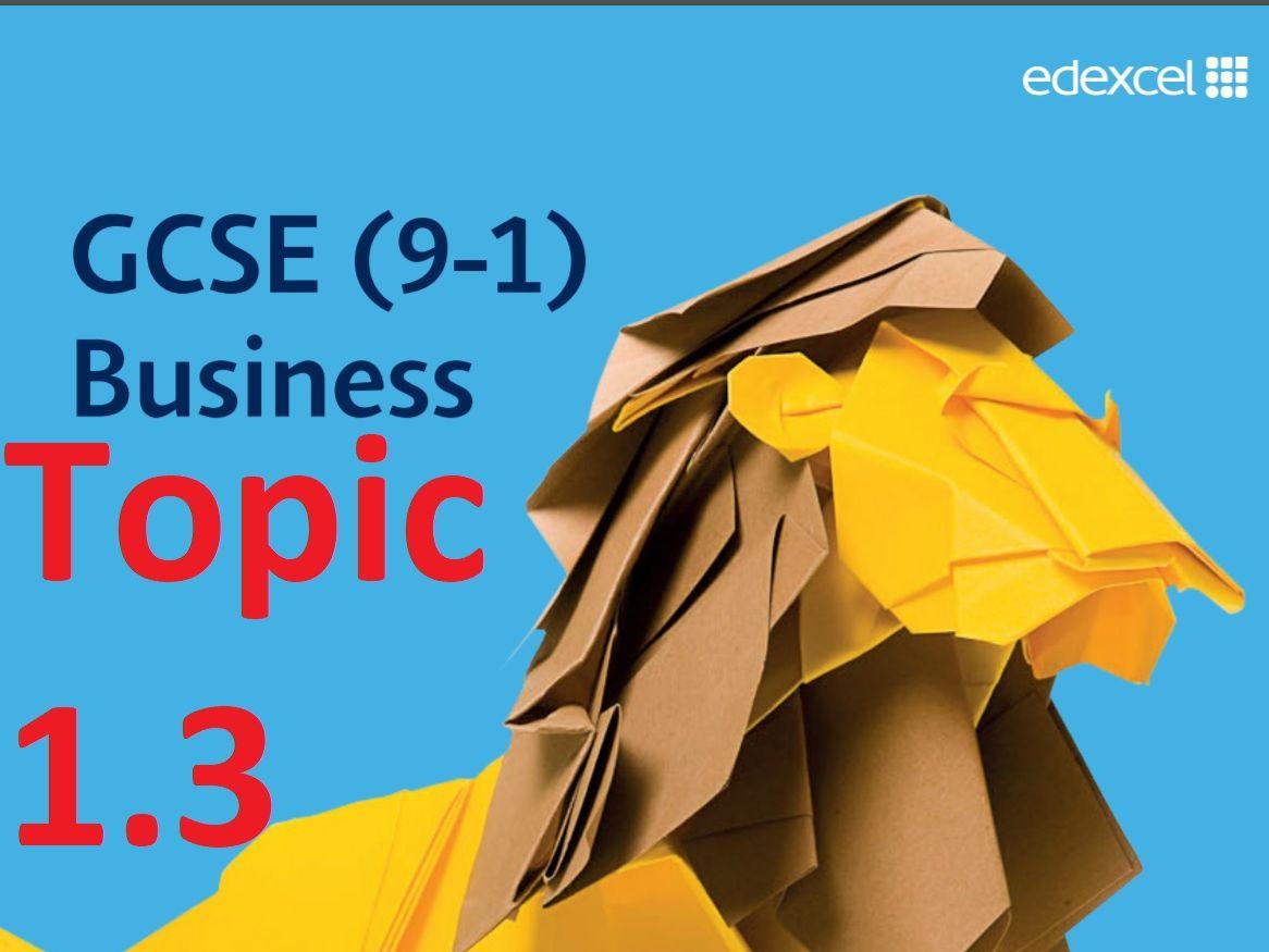Topic 1.3 - Finance - GCSE Edexcel Business - Theme 1