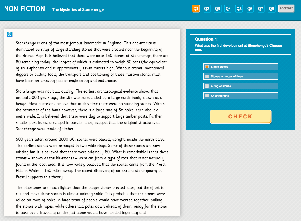 Mysteries of Stonehenge - Interactive Exercise - Year 6 Reading Comprehension (Non-fiction)