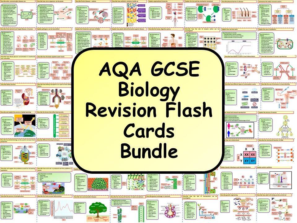 KS4 AQA GCSE Biology Revision Flashcard Bundle