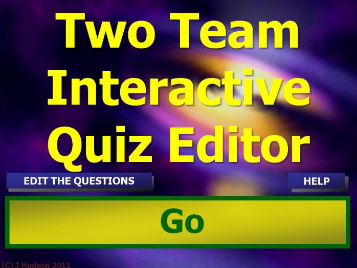 Two Team IWB Quiz Game Creator