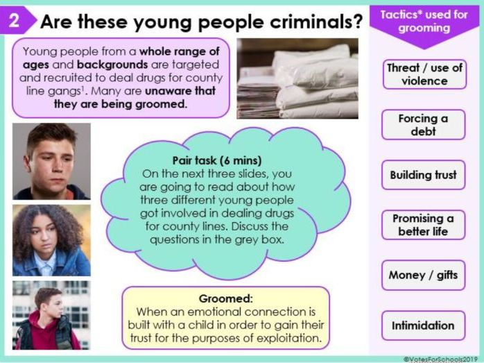 Should teens involved in county lines be classed as criminals? KS3/KS4 Lesson