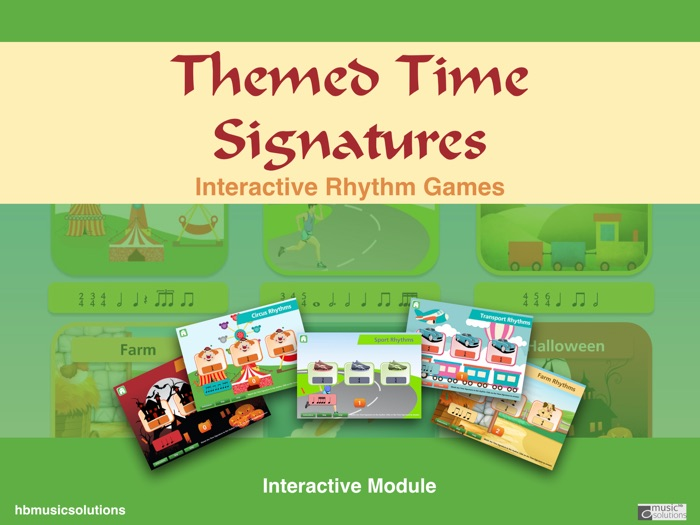 Musical Themed Time Signatures Music Interactive Game - including Halloween