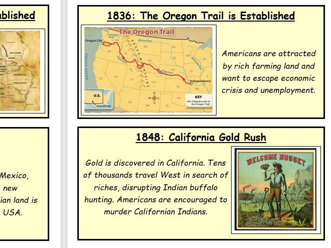 Edexcel GCSE American West Revision Cards / Display
