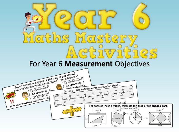 Measurement Mastery Activities – Year 6