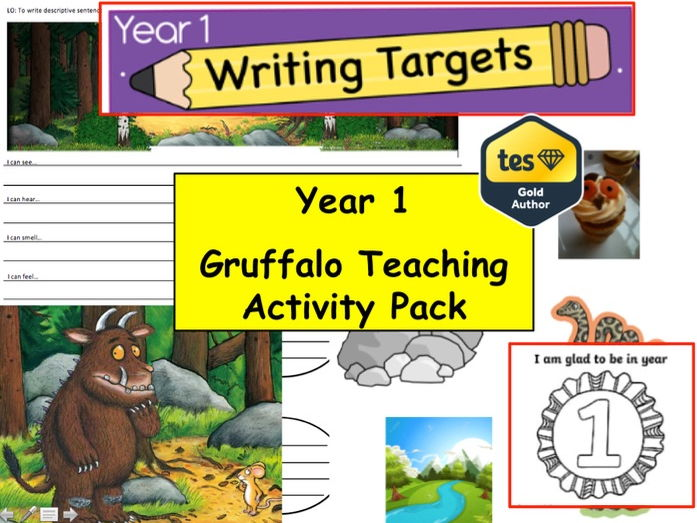 Year 1 /2  Gruffalo Teaching Resource Pack  (English, Creative Writing, Fiction, literacy  Year 1)