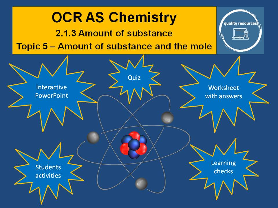 Amount and moles - OCR AS Chemistry