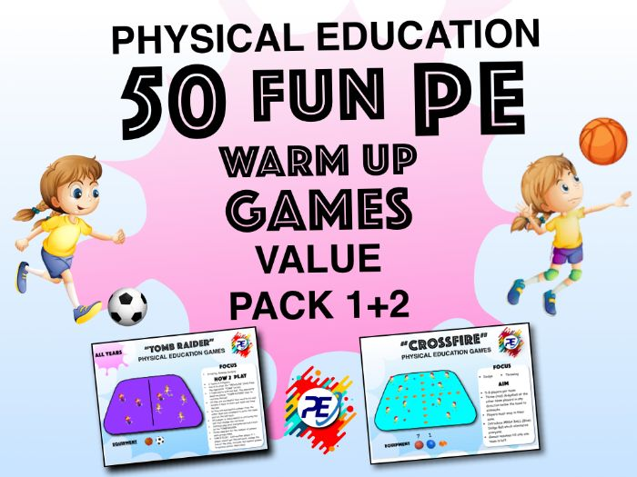 Primary to Year 8 - PE WARM UP Games - Complete Warm Up Games Value Pack