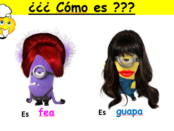 Cómo eres - descripción física - physical description - Year 7 - Spanish