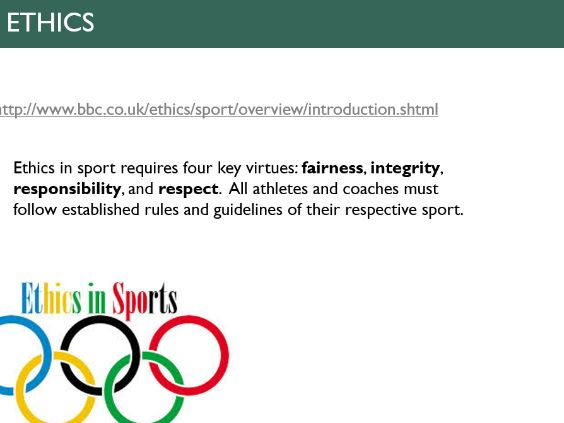 ethics and Deviance in sport A level PE