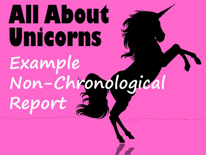 Example Non-Chronological Report About Unicorns
