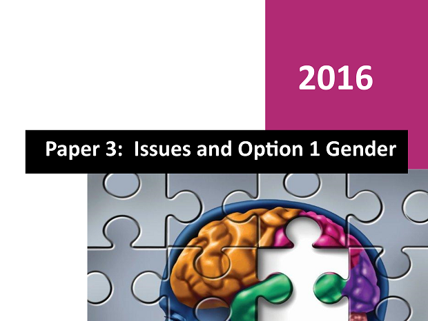 Option 1 Gender - Paper 3 Workbook