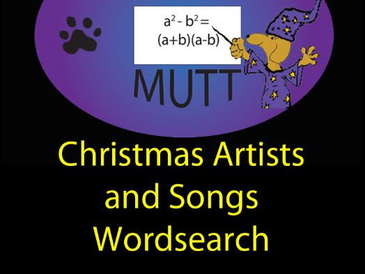 Pooch Puzzles: Christmas Artists and Songs Word Search