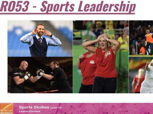 Cambridge National Sports Studies - R053 Sports Leadership bundle