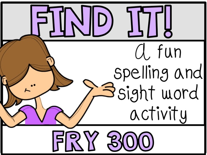 Tiny Word Hunt I SPY FRY 300 Words