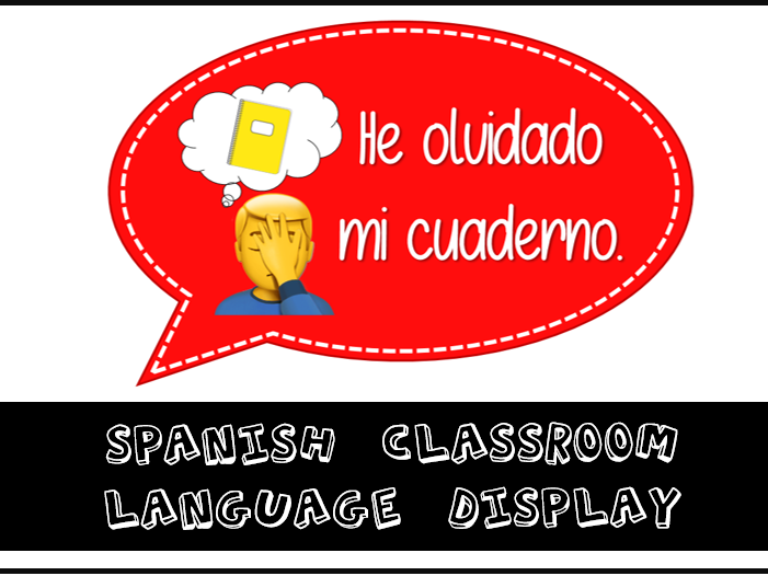 Spanish Classroom Language Display