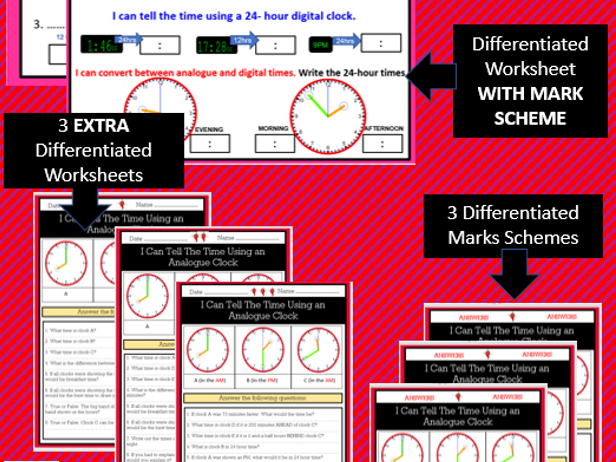 Time - Solve problems involving converting between units of time - Outstanding Lesson bundle