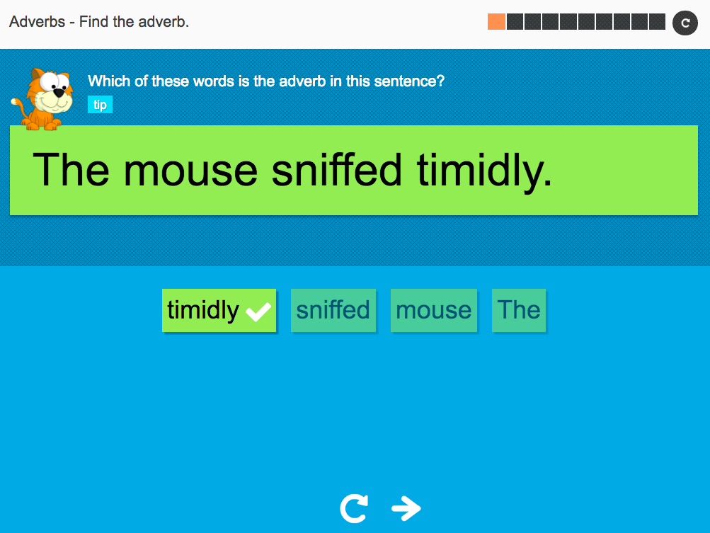 Find the adverb - Interactive Activity - KS3 Spag