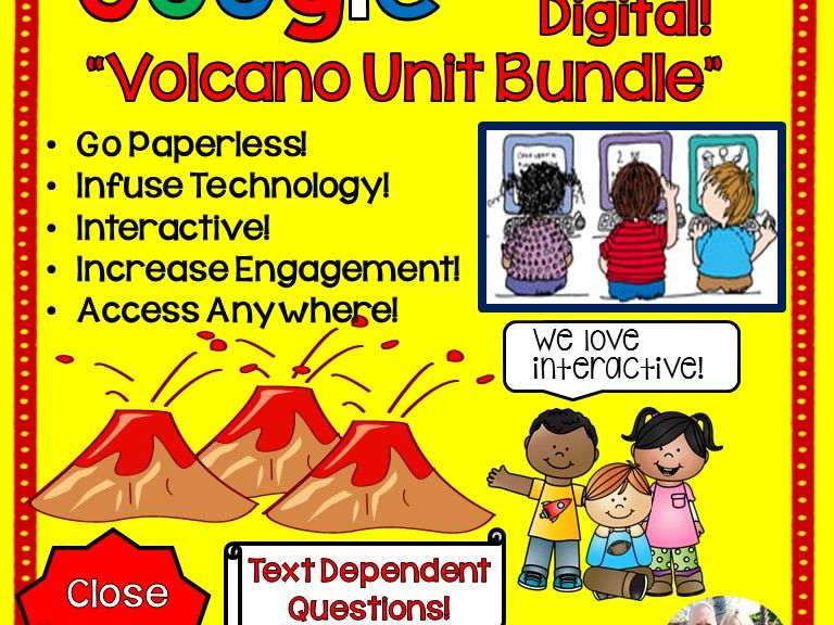 Google Drive Volcano Unit Interactive Notebook For Google Classroom