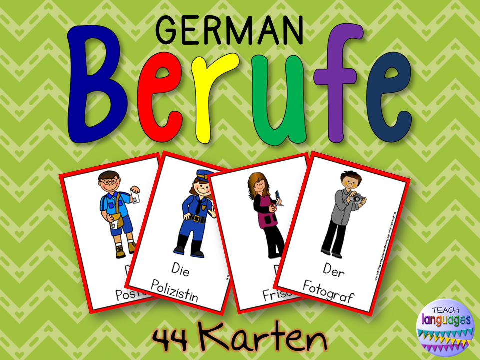 German Word Cards- Deutsch Berufe Karten